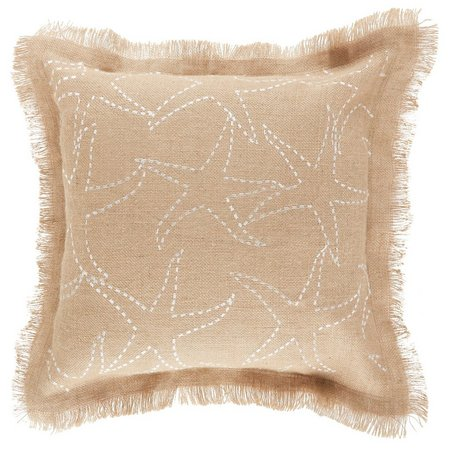 Elise & James Home Embroidered Starfish Pillow