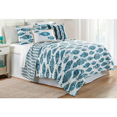 Elise & James Home Aleena Fish Quilt Set