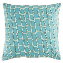 Elise & James Home Aqua Rope Decorative Pillow