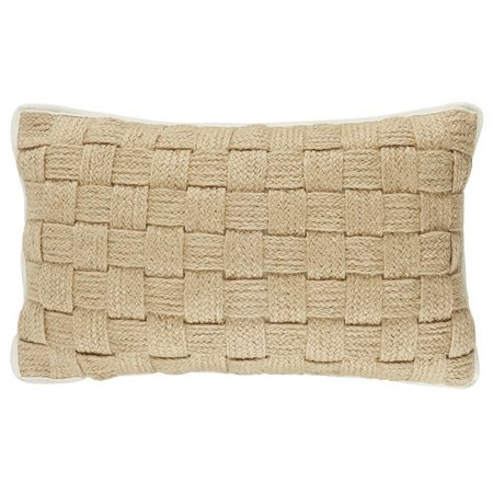 Elise & James Home Maui Basketweave Hemp Pillow
