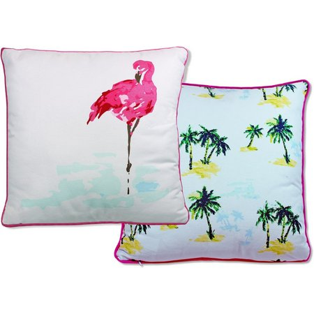 Elise & James Home Fiji Flamingo Decorative Pillow