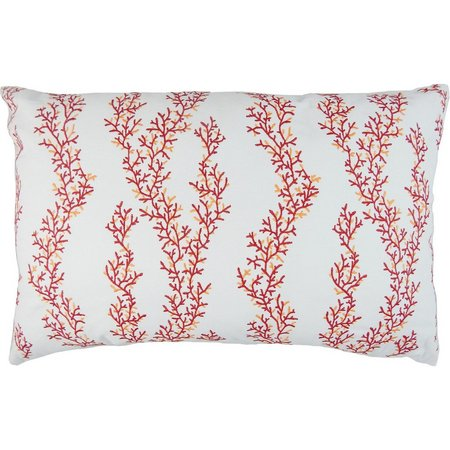 Elise & James Home Embroidered Coral Pillow