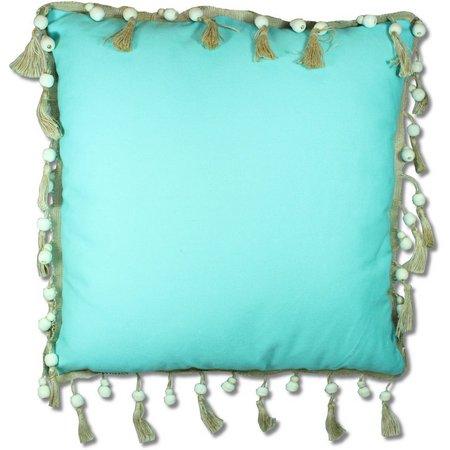 Red Pineapple Tava Tassel Decorative Pillow