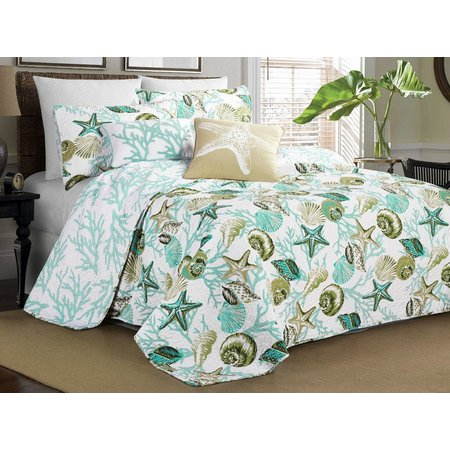 Elise & James Home Riveria Aqua Quilt Set