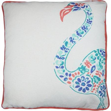 Elise & James Home Aruba Flamingo Pillow