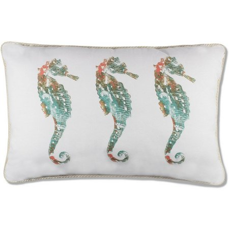 Elise & James Home Sanders Beach Seahorse Pillow