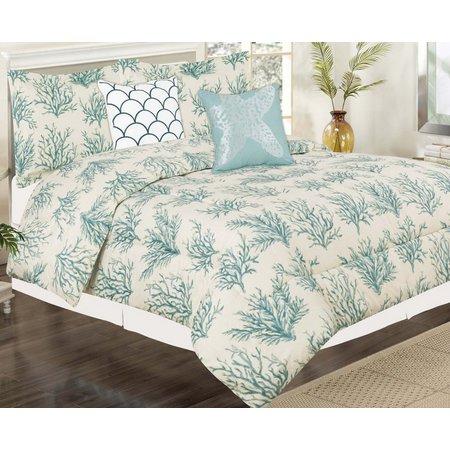 Beatrice Blue Coral Comforter Set
