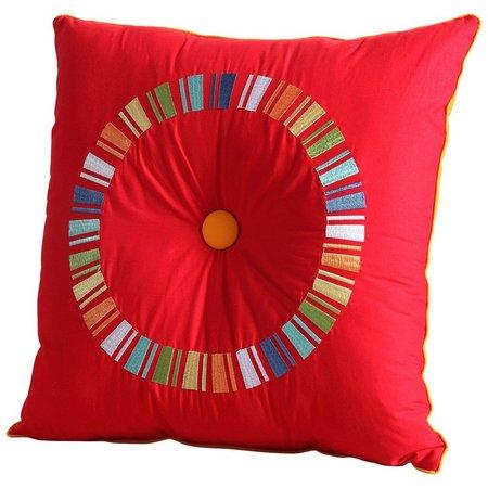 Fiesta Scarlet Circle Decorative Pillow