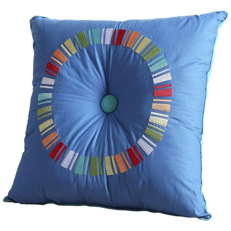 Fiesta Turquoise Circle Decorative Pillow