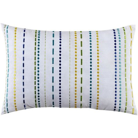 Fiesta Embroidered Stripe Decorative Pillow