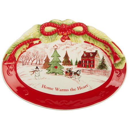 Fitz & Floyd Home Warms The Heart Platter