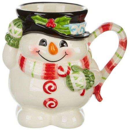 Fitz & Floyd Flurry Folk Snowman Mug
