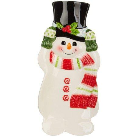 Fitz & Floyd Flurry Folk Snowman Spoon Rest