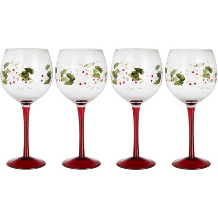 Pfaltzgraff Winterberry 4-pc. Wine Goblet Set