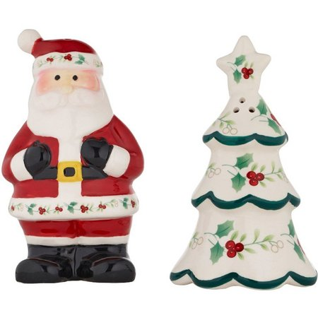 Pfaltzgraff Winterberry 2-pc. Santa Salt & Pepper