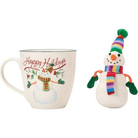 Pfaltzgraff Winterberry Snowman Mug And Ornament