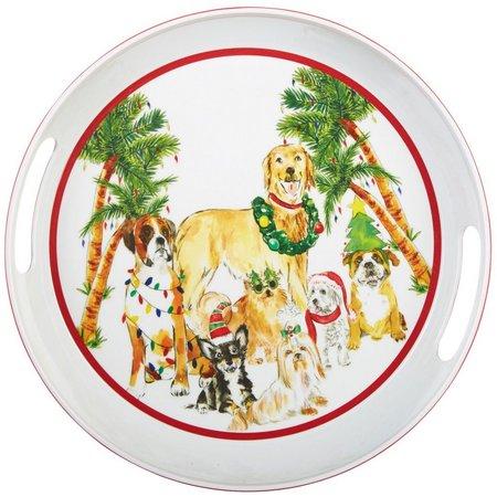 Brighten the Season Happy Howlidays Round Platter