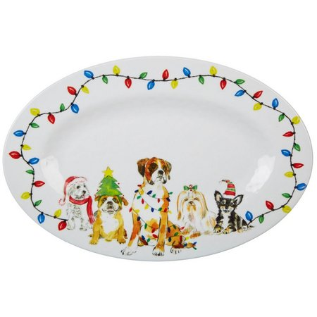 Brighten the Season Happy Howlidays Oval Platter