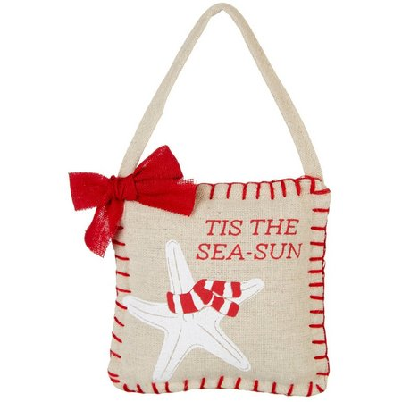 Brighten The Season Tis The Sea-Sun Pillow Ornament
