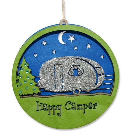 Cape Shore Happy Camper Laser Cut Ornament