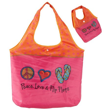 Cape Shore Peace Love Flip Flops Travel Tote