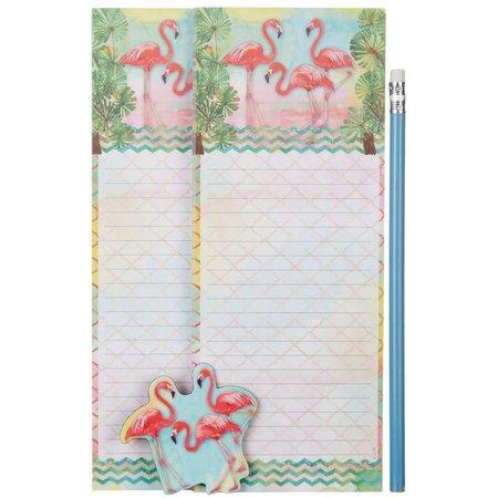 Cape Shore Flamingo Magnetic Memo Pad Gift Set