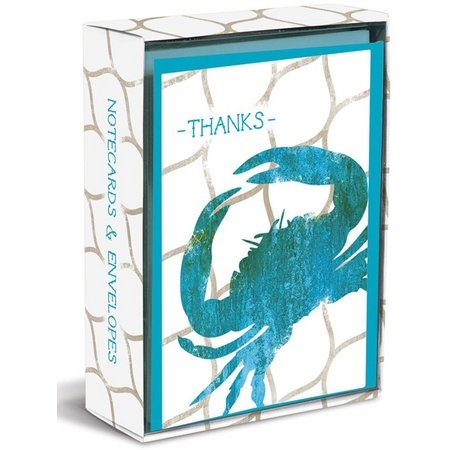 Graphique Weatherened Crab Boxed Note Cards