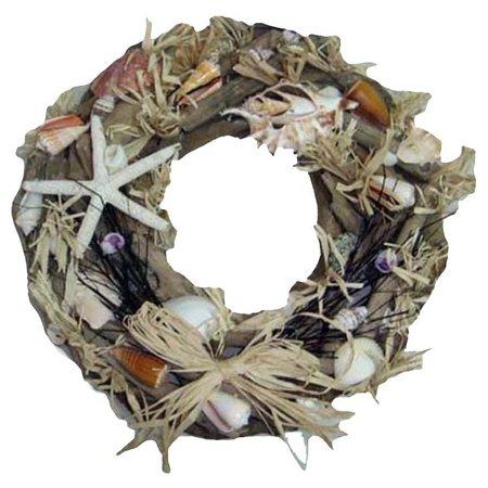JD Yeatts 20'' Driftwood & Shell Wreath