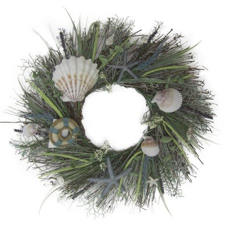I.J.K. Nautical Sea Grass Buoy Coastal Wreath