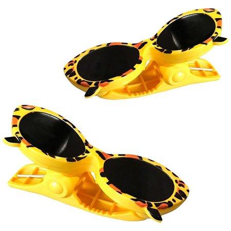 Boca Clips 2-pc. Yellow Sunglasses Beach Clip Set