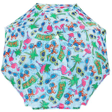 Leoma Lovegrove Sun Shack Beach Umbrella