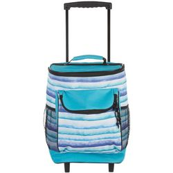 Tropix Beachcomber Blue Watercolor Rolling Cooler