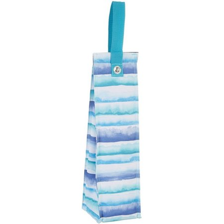 Tropix Beachcomber Watercolor Stripe Wine Tote