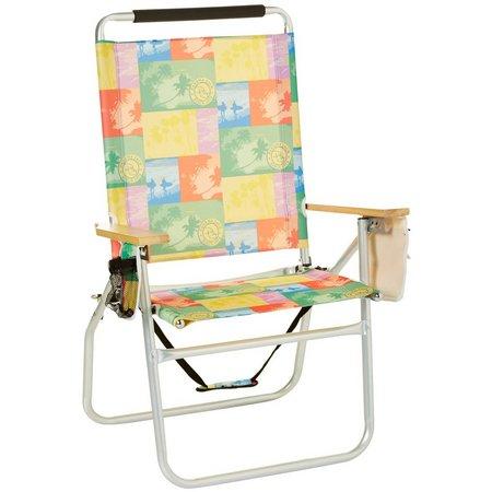 Panama Jack Surf Print High Back Beach Chair