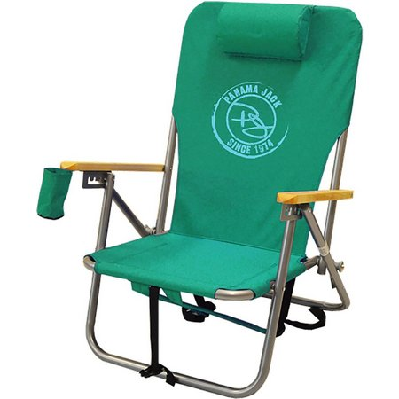 Panama Jack Circle Logo Green Folding Chair