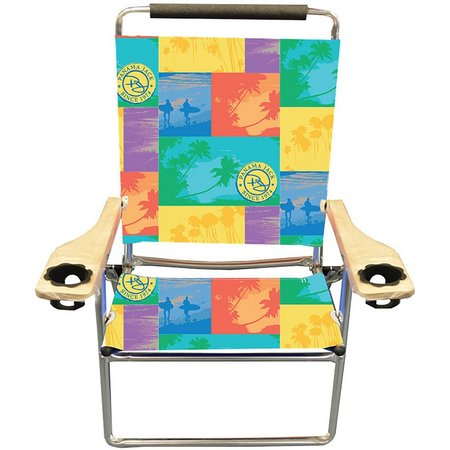 Panama Jack Beach Print High Back Chair