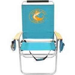 Panama Jack Marlin Turquoise High Back Chair