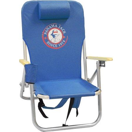 Panama Jack Circle Logo Royal Blue Folding Chair