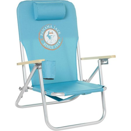 Panama Jack Circle Logo Turquoise Folding Chair