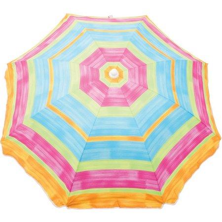Rio 6' Multi-Striped Beach Umbrella