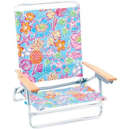 Rio Brands 5 Position Tropical Beach Chair