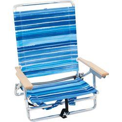 Rio Brands Blue Stripe Backpack Beach Chair