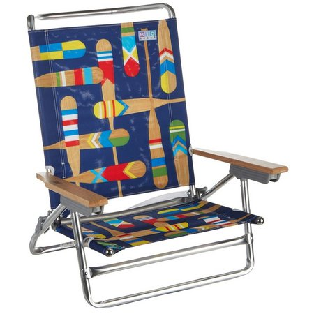 Rio Brands 5 Position Paddles Beach Chair