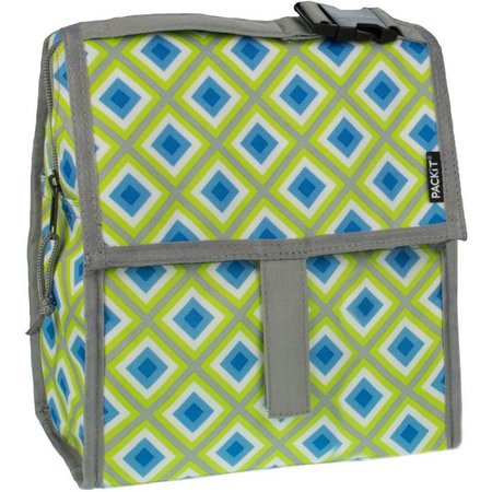 PackIt Geo Print Freezable Lunch Bag