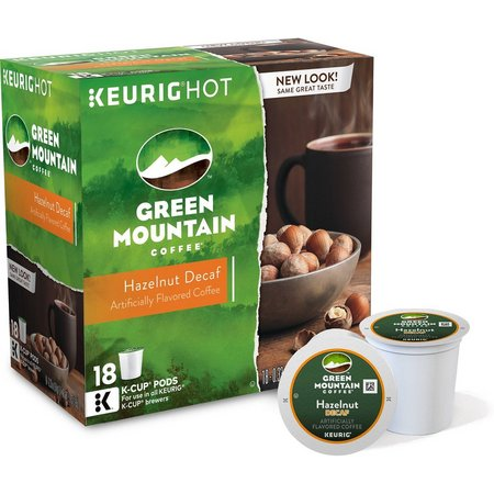 Keurig K-Cup Green Mountain Hazelnut Decaf- 18-pk.