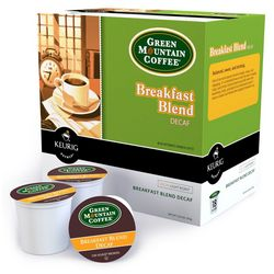 Keurig Green Mt. Breakfast Blend Decaf-18pk.