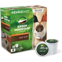 Keurig K-Cup Green Mountain Half-Caff Coffee 18-pk