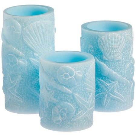 Evergreen 3-pc. Sea Shell LED Candle Set