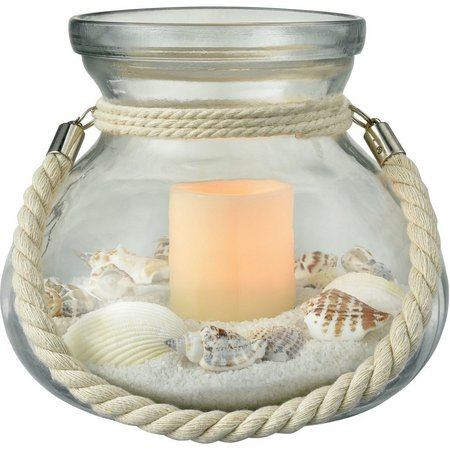 San Miguel Beachfront LED Candle Jar