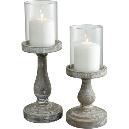 San Miguel 2-pc. Beachfront Pillar Candle Holders